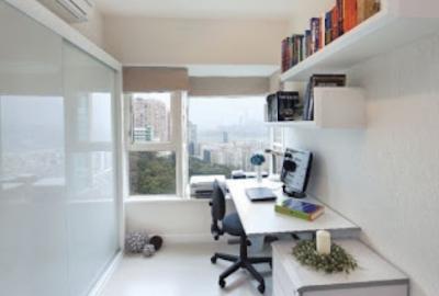 desain tempat kerja dengan ruangan sempit