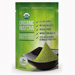 organic matcha powder bag