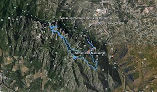 Recorregut: Monestir de Montserrat-Miranda de Santa Magdalena