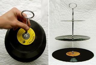 DIY, Porta Cupcakes con Discos de Vinilo