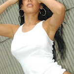 Andrea Rincon, Selena Spice Galeria 20: Tomando El Sol. Cachetero Rosa, Tanga Transparente y Top Blanco Foto 82