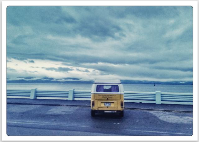 Volkswagen Type 2 Westfalia bus in Victoria, Vancouver Island, Canada