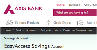 Axis Bank Easy Access Salary Account Application and Activation Status