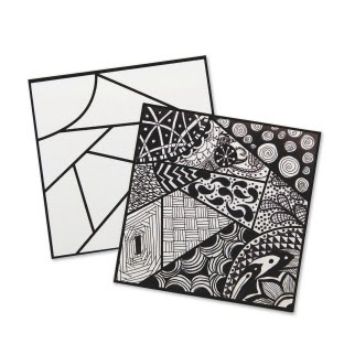 Zentangle craft for Junior Girl Scout Drawing Badge