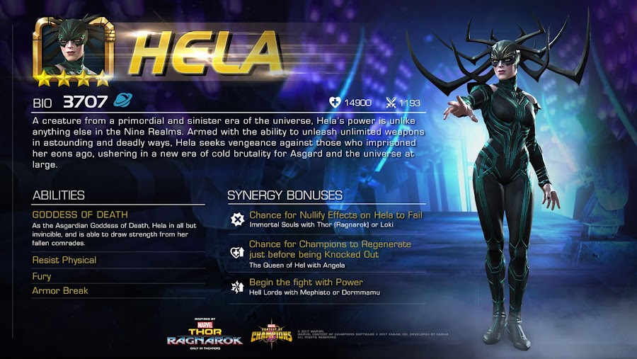 marvel contest of champions hela spotlight