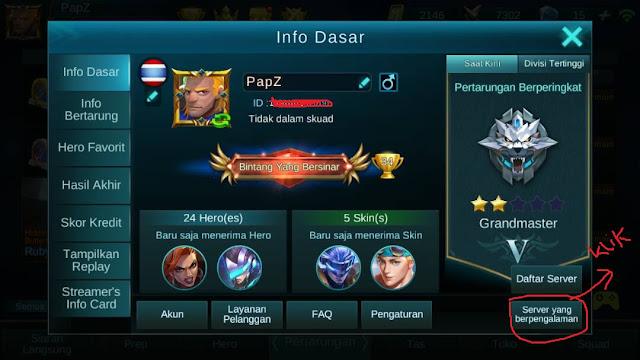 Cara mencoba fitur baru,Hero baru lebih awal di Mobile Legend Bang-bang,