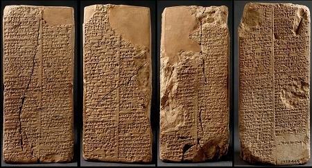 Las tablas con la lista de reyes narran una historia increíble