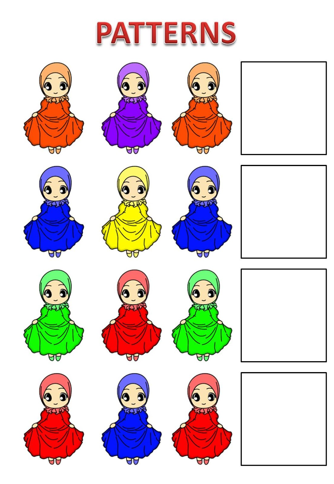 Free Islamic File Folder Games Islamic Homeschooling Worksheets