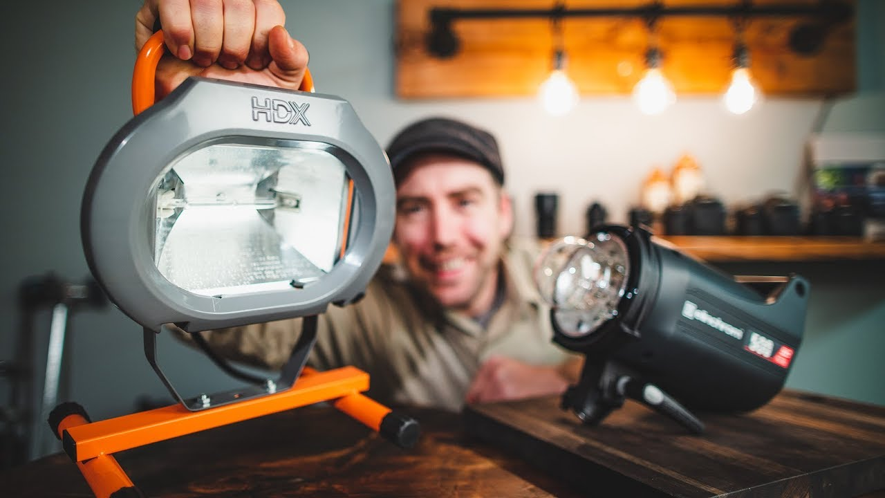 $20 Work Light VS $900 Studio Strobe Food Photography Lighting On A BUDGET