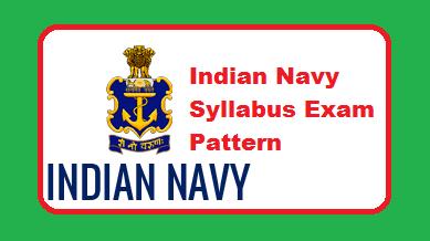 Indian Navy Syllabus 2019