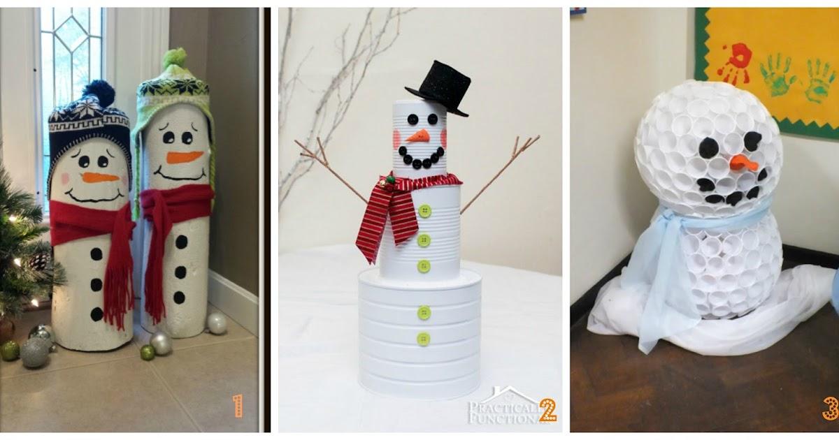 Pupazzo di natale fai da te per decorare la casa a natale - Lavori da fare a casa ...