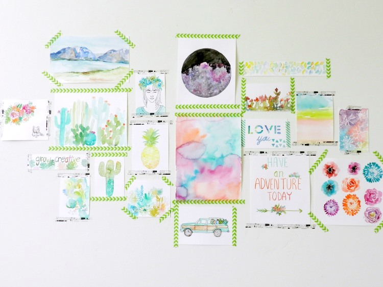 grow creative blog washi tape gallery wall