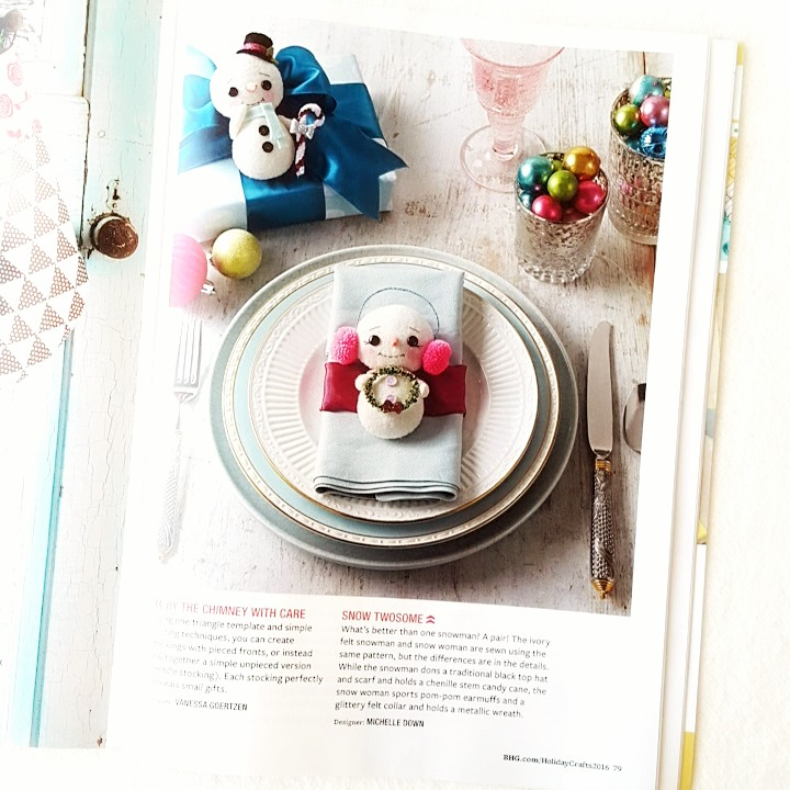 Gingermelon dolls a special giveaway Better homes and gardens christmas special