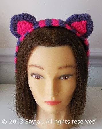 Cheshire Cat Headband Crochet Pattern Sayjai Amigurumi Crochet