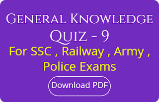 General Knowledge Quiz - 9