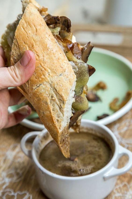 Portobella Mushroom Au Jus Sandwiches
