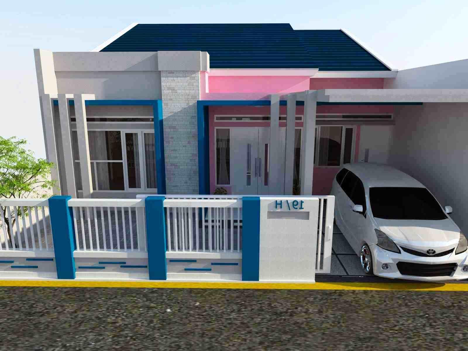 Kombinasi Warna Cat Rumah Biru Kumpulan Desain Rumah