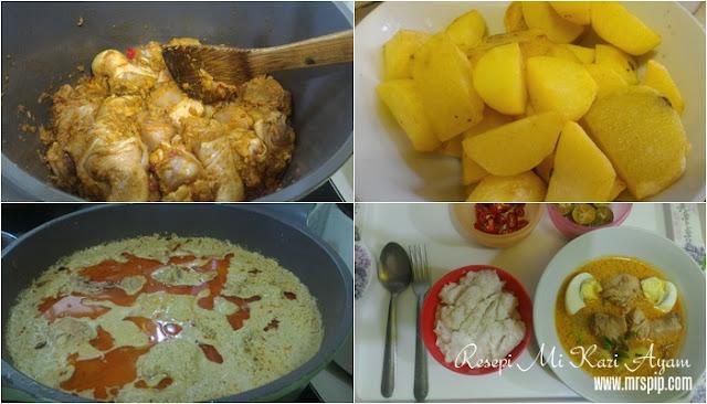 Resepi senang Mi Kari Ayam