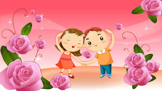 Gambar kartun sedang jatuh cinta