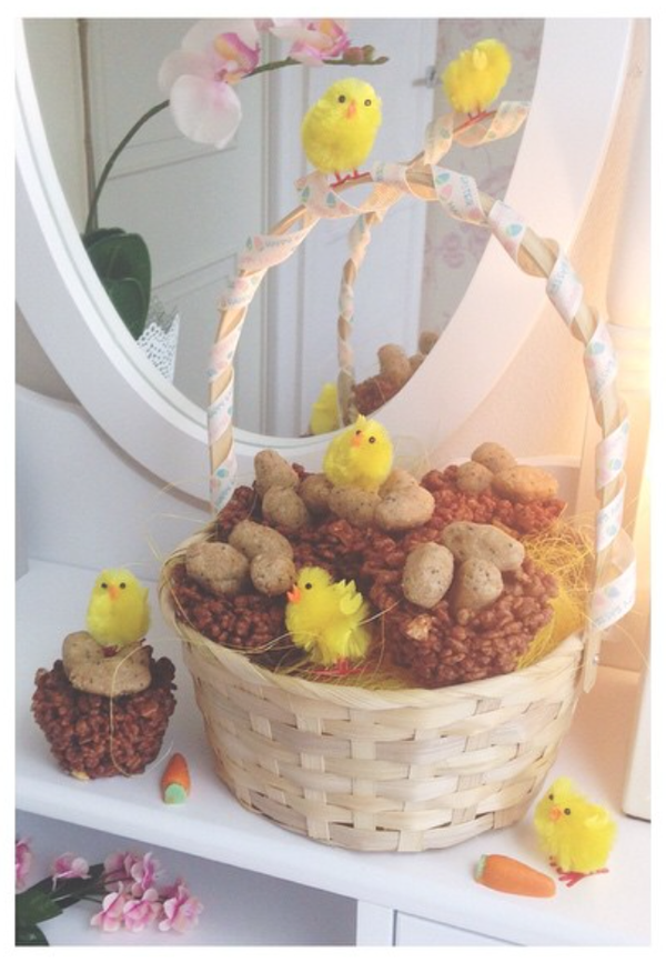 Niomi smart easter treats my take the little blog of vegan easter dairy free nests negle Image collections