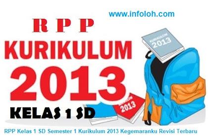 RPP Kelas 1 SD Semester 1 Kurikulum 2013 Kegemaranku Revisi Terbaru