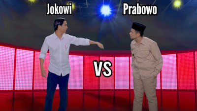 Viral Video Rap battles Prabowo vs Jokowi Skinnyindonesian24 di halaman 1 Youtube