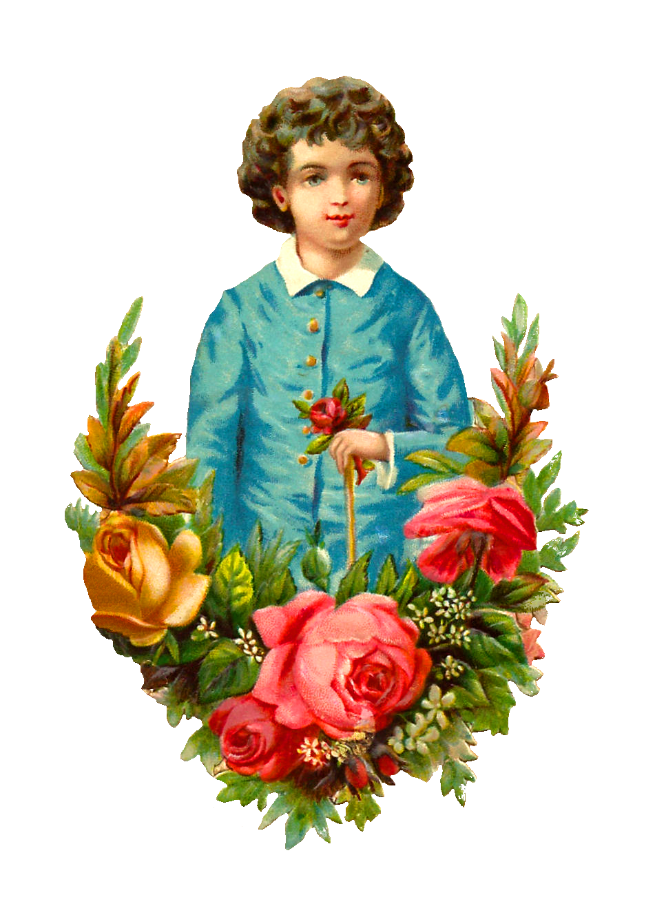 clipart girl holding flowers - photo #44