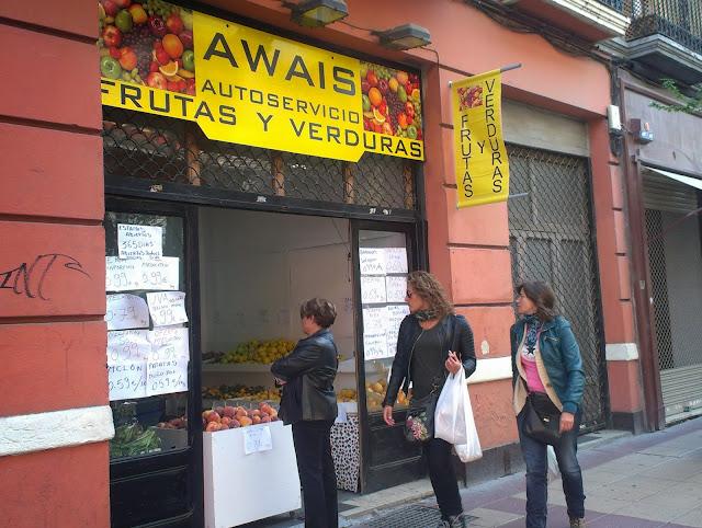 pequeña tienda de verduras