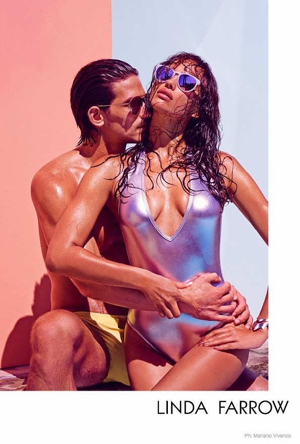 Irina Shayk is seductive for the Linda Farrow Sunglasses Spring/Summer 2015 Campaign