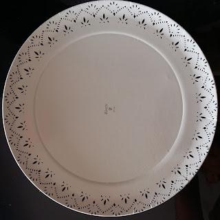 plato cartón grueso blanco plastificado