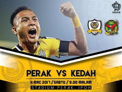 Live Streaming Perak vs Kedah FA Piala FA 2017 11 Mac 2017