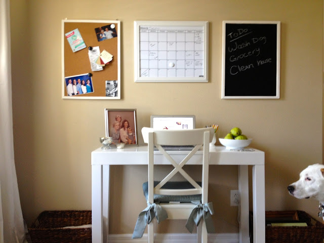 Small home office with Shaker Beige by Benjamin Moore