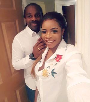 Beautiful New Photo of Laura Ikeji and husband