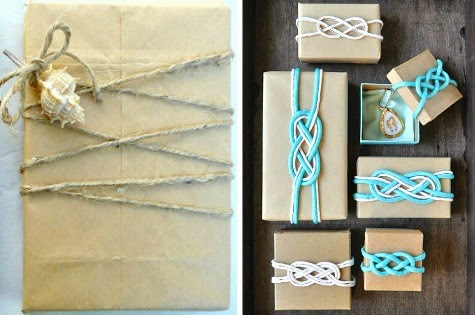 coastal gift wrapping ideas