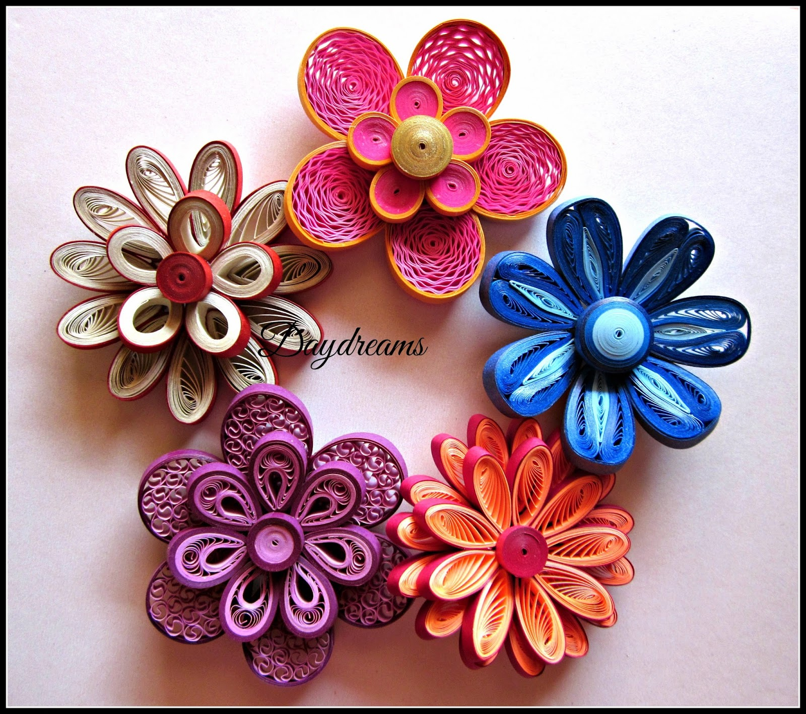 daydreams for my love for quilled flowers