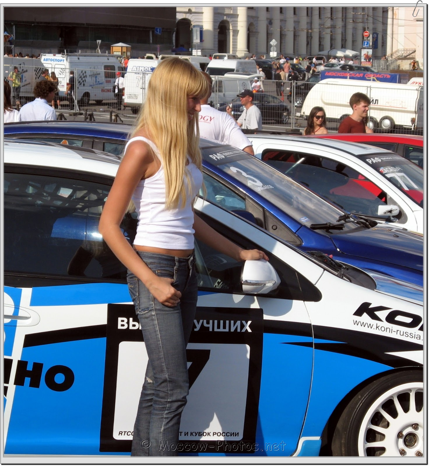 Smiling Blonde Moscow Girl at Bavaria Moscow City Racing 2008
