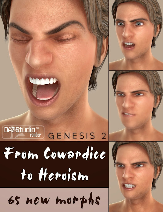 DAZ 3D - From Cowardice to Heroism for Genesis 2 Male