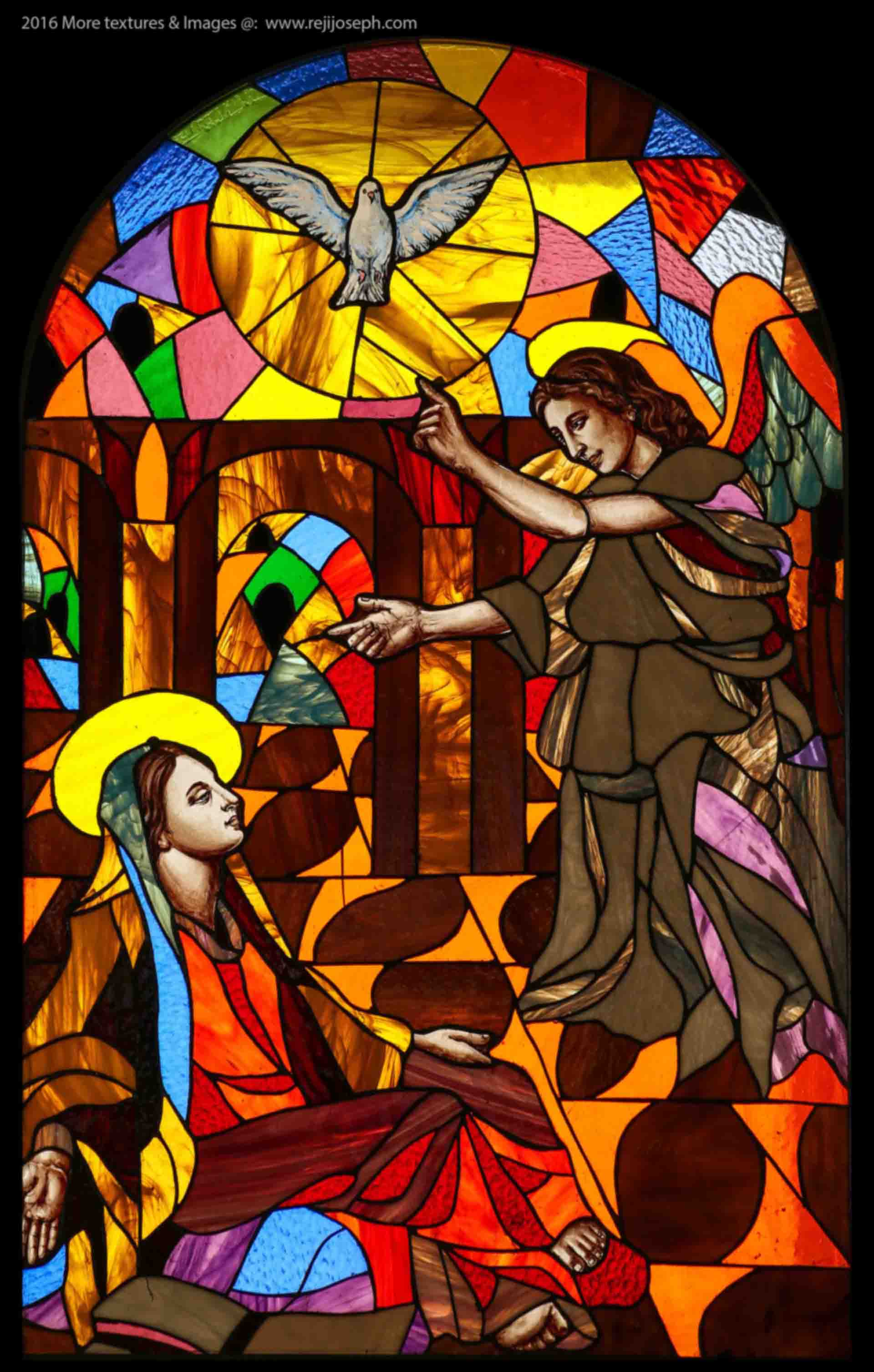 Stained Glass art Annunciation