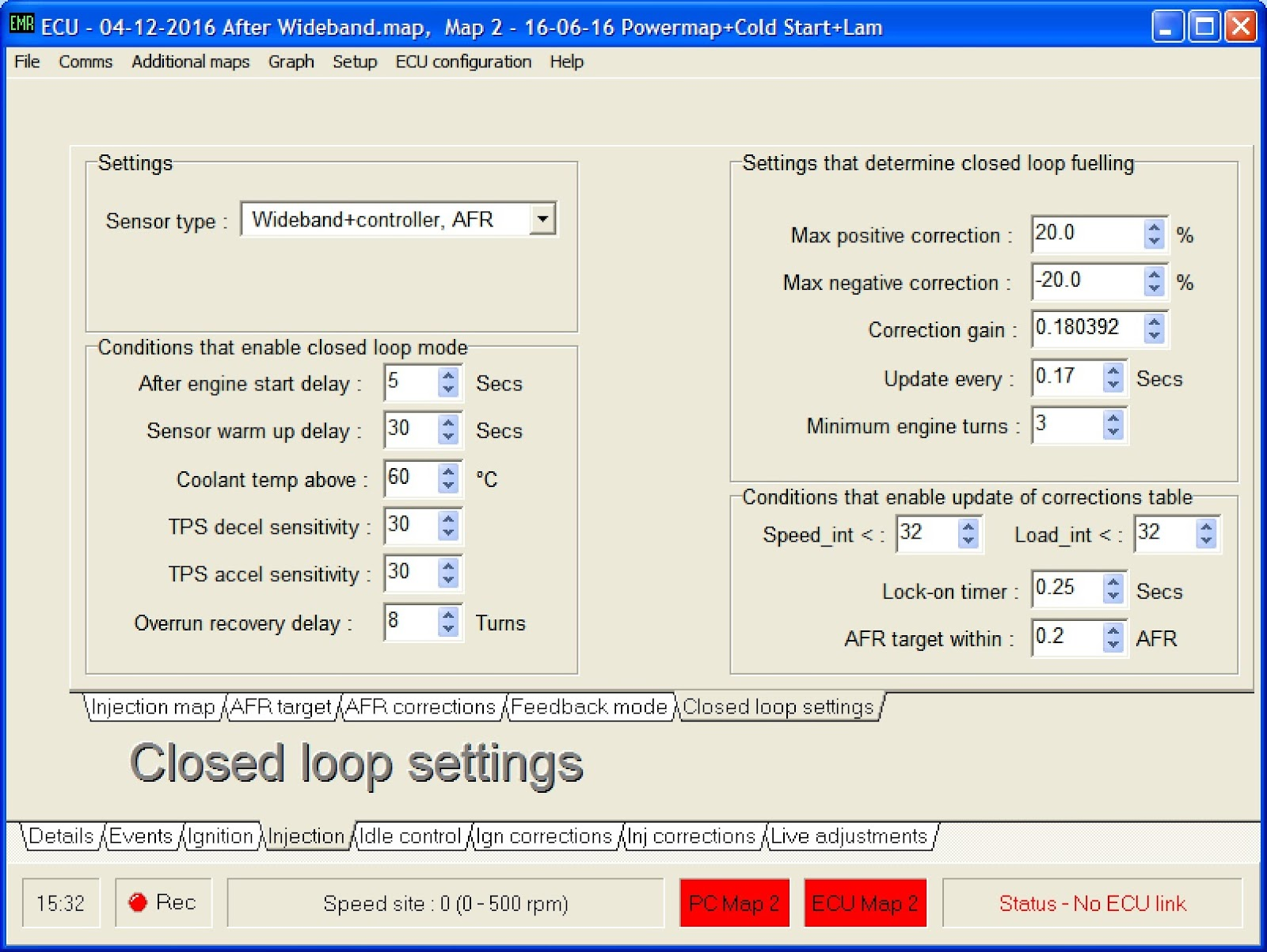 Emerald%2BClosed%2BLoop%2BSettings%2B04 12 16 richard's gbs zero wideband lambda 14point7 spartan2 emerald ecu wiring diagram at panicattacktreatment.co