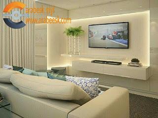 ديكورات جبس بورد شاشات تلفزيون tv ديكورات جبس على الحوائط