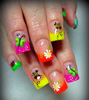 Modern Nails Decorated Easy And Nice Art Designs And Ideas