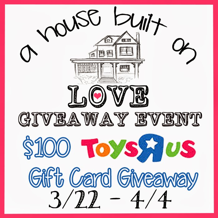 Enter the House Built on Love Giveaway. Ends 4/4.