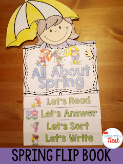 Spring Flip Book- reading, writing, and comprehension activities for the season