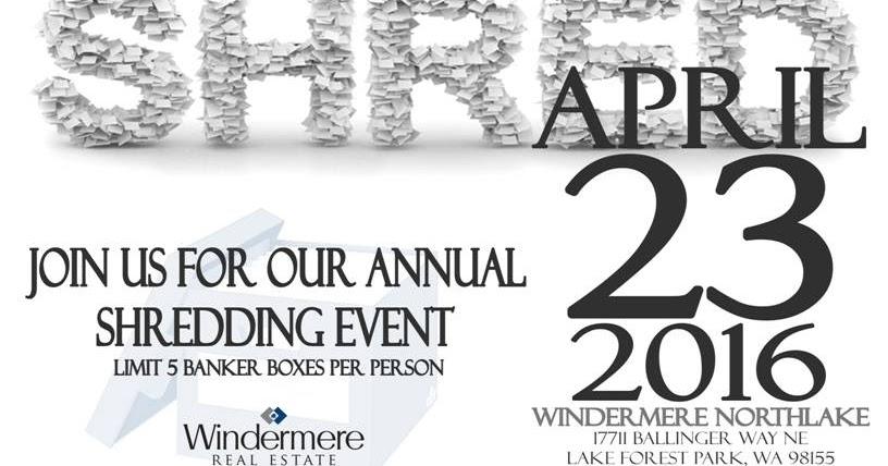 Shoreline Area News: Shredding event Saturday at