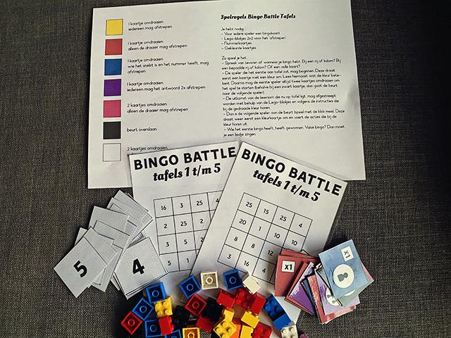 tafels vermenigvuldigen bingo battle