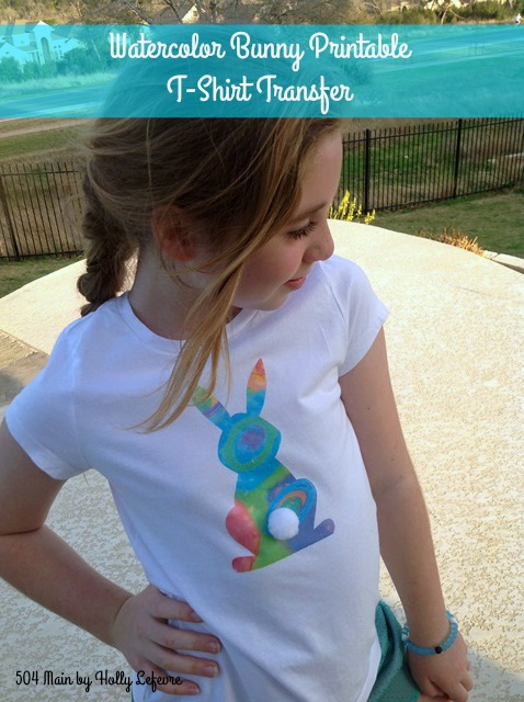 picture relating to Printable Tshirt Transfers named 504 Principal as a result of Holly Lefevre: Watercolor Bunny Printable T