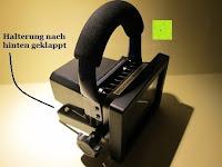 Halterung klappbar: as - Schwabe Chip-LED-Akku-Strahler 10 W, geeignet für Außenbereich, Gewerbe, blau, 46971