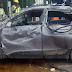 PICTURED: 4 Die As Robbers' Car Falls Of Lagos Bridge Sunday Afternoon