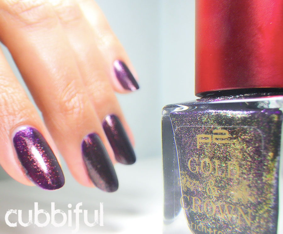swatch p2 gold & crown purple charism