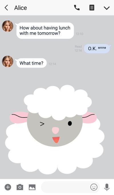 Cute sheep theme vr.2